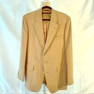 Izod khaki afternoon blazer/ gold button.
